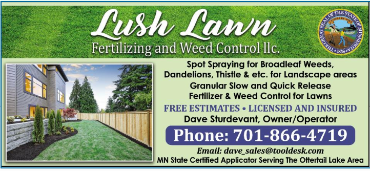 Arvig phone book Lush Lawn ad Mock UP
