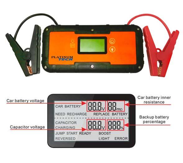 PLT-99300 Platinum 99300 12V Ultra Capacitor Jump Starter