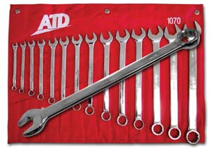 ATD-1070 ATD-1070 14 Pc. 12 Point SAE Long Pattern Wrench Set
