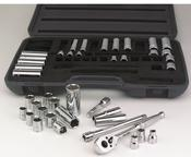 """SAE and Metric Socket Set  47 Pc. 3/8"""" Dr. 6pt by ATD Tools 1245"""