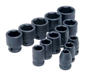 ATD-4202 ATD 13 Pc. 1/2 Dr. 6 pt. 7/16 - 1-1/4 Impact Socket Set