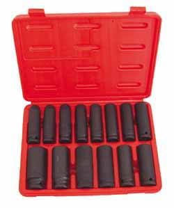 ATD-4301 ATD 14 Pc. 1/2 Dr. 6 pt. 10-27mm Deep Impact Socket Set