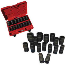 ATD-6406 ATD-6406 16 Pc. 3/4 Dr. Deep Metric Impact Socket Set