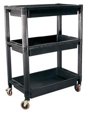 HEAVY DUTY 3 TRAY PVC UTILITY CART