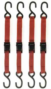 ATD 4 Pc. 5 1/2' 1,500 lb. tensle strength Tie Down Set