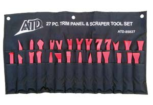 ATD-85827 ATD 85827 11 Pc. Trim Panel Removal & Scrapper Tool Set