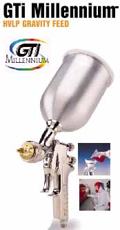 DEV-GTI620G DeVILBISS HVLP GTI Millenium Gravity Feed Spray Gun