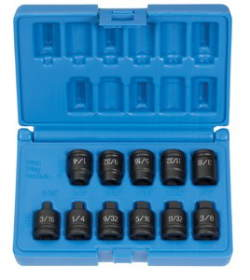 GRY-1211P Grey Pneumatic 1211P 11 Piece, Pipe Plug Socket Set, 3/8'' Drive