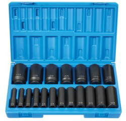 GRY-1719D Grey Pneumatic 1/2'' Drive 12–Point Deep Length SAE Master Set