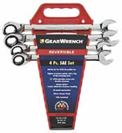 KDT-9545 K-D Tools 9545 4 Pc. Reversible Ratcheting Wrench Completer Set SAE