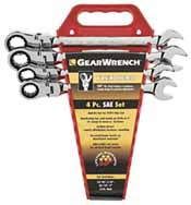 KDT-9703 K-D Tools - 9703- 4 Pc. Flex Head Ratcheting Wrench Completer Set SAE