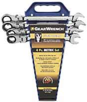 KDT-9903 K-D Tools 9903 4 Pc. Flex Head Ratcheting Wrench Completer Set Metric