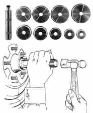 LIS-12980 Lisle 12980 Bearing Race and Seal Driver Master Set
