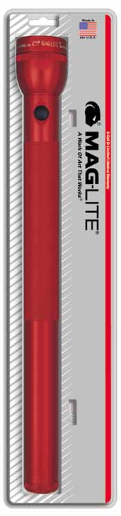 MAG-S6D036 MAGLITE 6D Cell Flashlight - Red