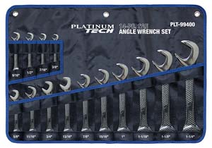 PLT-99400 Platinum 99400 14 Pc. SAE Angle Wrench Set