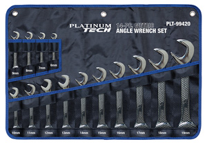 PLT-99420 Platinum Tech 99420 14 Pc. Metric Angle Wrench Set