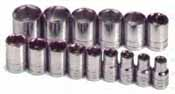 SKT-1955 SK 1955 15 Piece 1/2 Dr. 6 point 10-24mm Socket Set