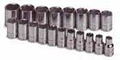 SKT-1959 SK 1959 19 Pc. 1/2 inch Drive 6 point Socket Set