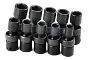 SKT-33351 SK 33351 10 Pc. 6 pt. 3/8 Dr. 10-19mm Swivel Impact Socket Set