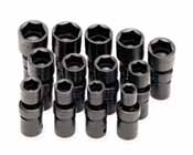 SKT-34300 SK34300 13 Pc. 6 pt. 1/2 Dr. 1/2-1 1/4 Swivel Impact Socket Set