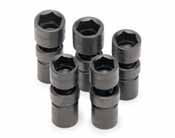 SKT-34352 SK 34352 5 Pc. 6 pt. 1/2 Dr. 20-24mm Swivel Impact Socket Set
