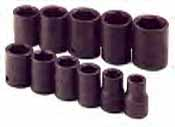 SKT-4032 SK 4032 11 Pc. 1/2 Dr. 6 pt. Standard 1/2-1 1/8 Impact Socket Set
