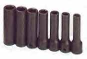 SKT-4040 SK 4040 7 Pc. 1/2 inch Drive 6 point Deep 3/8-3/4 Impact Socket Set