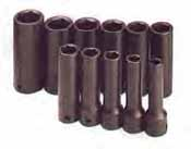 SKT-4041 SK 4041 11 Pc. 1/2 Dr. 6 pt. Deep 3/8-1 Impact Socket Set