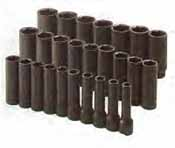 SKT-4047 SK 4047 26 Pc. 1/2 Dr. 6 pt. Deep Metric Impact Socket Set