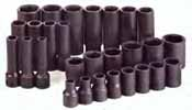 SKT-4051 SK 4051 28 Pc. 1/2 Dr. 6 pt. Standard and Deep Impact Socket Set