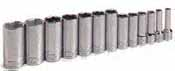 SKT-4433 SK 4433 13 Pc. 3/8 Dr. 6 pt. Deep and XL Deep SAE Socket Set