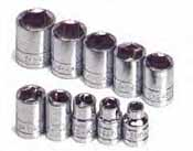 SKT-4610 SK 4610 10 Pc. 3/8 Dr. 6 pt. Standard 5/16-7/8 Socket Set