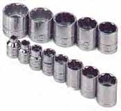 SKT-4653 SK 4653 13 Pc. 3/8 Dr. 12 pt. Standard 1/4-1 Socket Set