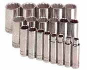 SKT-4819 SK 4819 19 Pc. 1/2 Dr. 12 pt. Deep 3/8 - 1 1/2 Socket Set