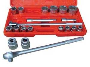 ATD-10021 Socket Set  21 Pc. 3/4 Dr. 12 pt. 3/4 - 2 by ATD Tools 10021