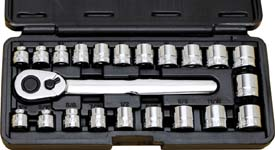 ATD-1222 ATD 22 Pc. 3/8 Drive Low Profile 12-Point Socket Set - SAE & Metric