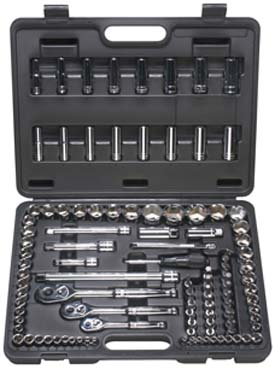 "ATD 104pc. 1/4"", 3/8"" and 1/2"" Dr. SAE/metric socket set"