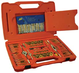 117 PC. Deluxe Machine Screw, SAE & Metric Tap & Die Drill Bit Set