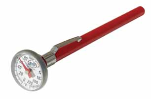 "ATD 3406 1"" Dial Thermometer 0 to 220 Degrees F"