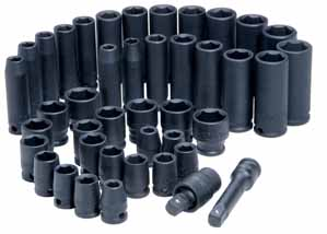 "ATD 42-Piece 3/8"" Deep SAE/Metric Impact Socket Set"