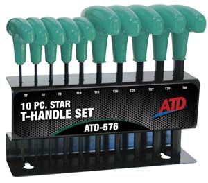 ATD-576 ATD 10 Pc. Star T-Handle Set