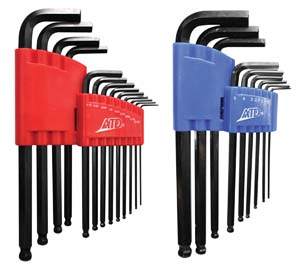 ATD-580 ATD-580   22 Pc. SAE & Metric Long Arm Ball End Hex Key Set