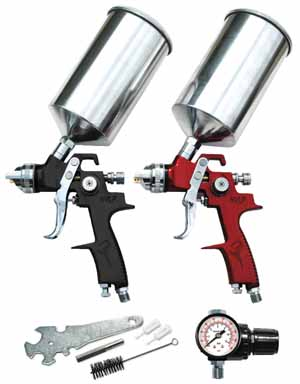 ATD-6904 ATD 6904   6 Pc. HVLP Spray Gun Set