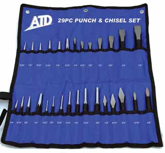 ATD-729 ATD 729 29 Pc. Punch and Chisel Set