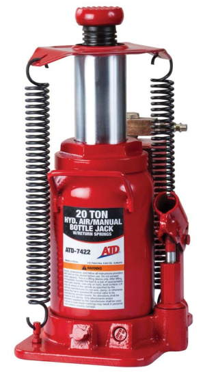 ATD-7422 20-Ton Heavy-Duty Hydraulic Air-Actuated Bottle Jack ATD 7422