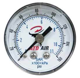 ATD-7921 ATD 1/4 NPT Air Gauge with 2 Face