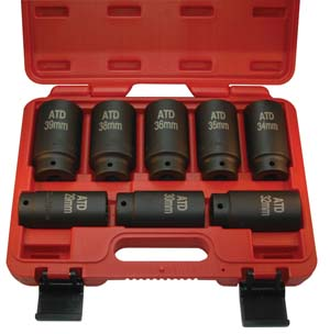 ATD-8628 ATD 8628 8 Pc. Axle/Spindle Nut Socket Set - 12 Point