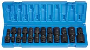 GRY-1212UD Grey Pneumatic 3/8 Dr. 12pc. Std. SAE 6pt. Universal Deep Impact Set