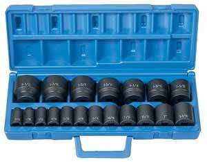 GRY-1319 Grey Pneumatic 1/2 Dr. 19pc 6pt. Std. SAE Impact Socket Set
