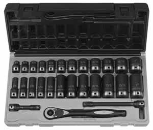 GRY-81627RD 27pc. Duo GP Socket Set 3/8'' Drive SAE Set